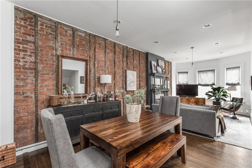 Open Concept Remodel Exposed Brick Townhouse Rowhouse Downtown Indy Exposed Brick Home New Homes Open concept row house