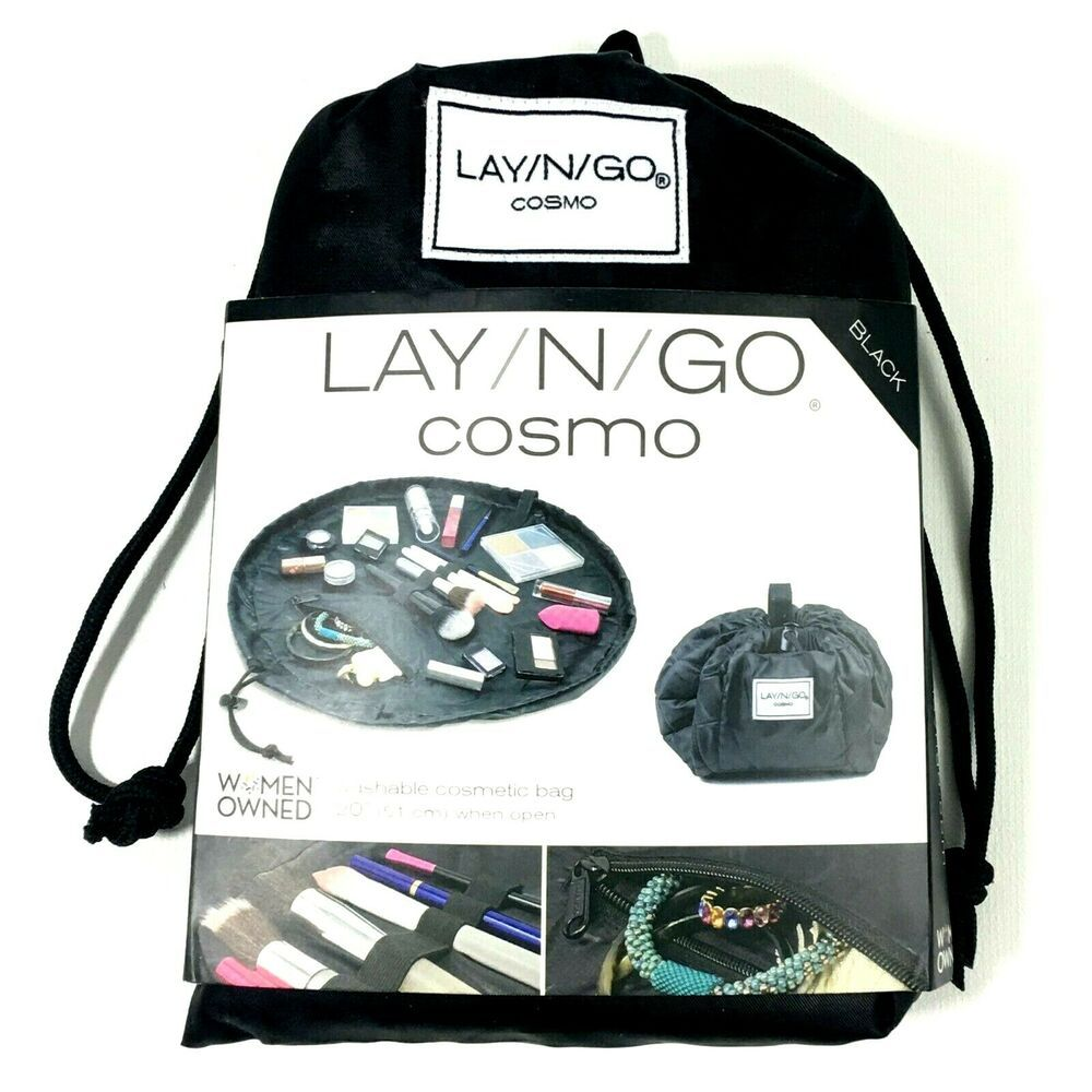 "Lay N Go Cosmo Washable Cosmetic Bag 20"" LayNGo in 2020"