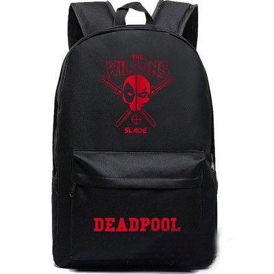Girl boy student game Teenager Marca Mochila Escolar Deadpool backpack  marvel comics superheros shoulder school bag hwd 858f7cb081611