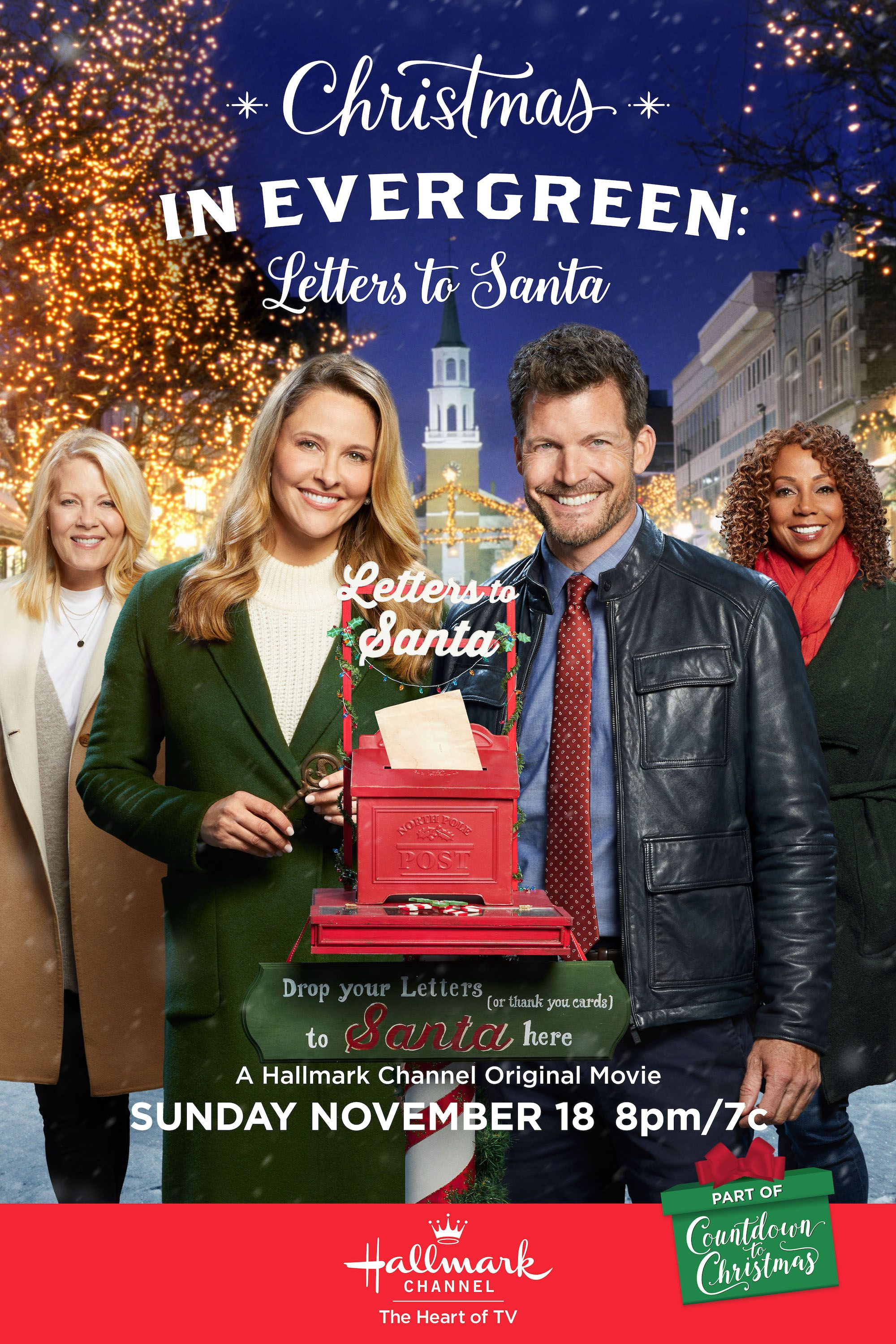 Christmas In Evergreen Letters To Santa Stars Jill Wagner And Holly Robinson Pe Hallmark Channel Christmas Movies Christmas Movies Hallmark Christmas Movies
