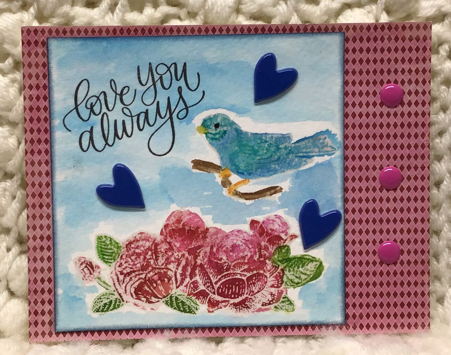 Anniversary Card with Bluebird of Happiness (With images