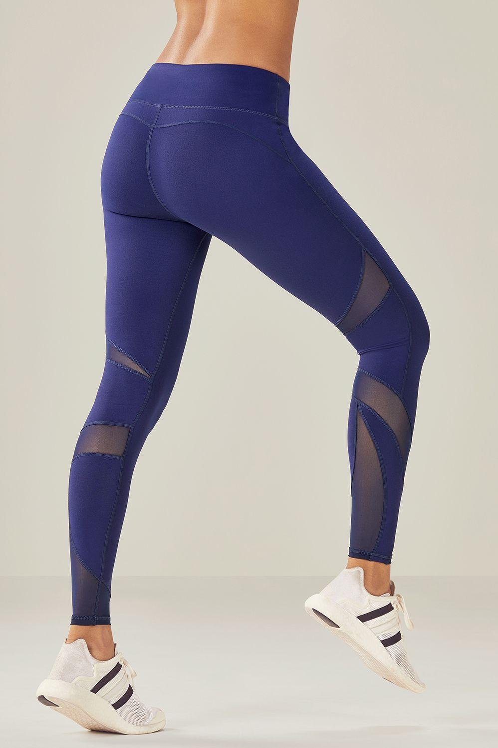 00741a8923ab97 Fabletics Tight Salar Mesh Powerhold Legging Womens Blue Size 1X