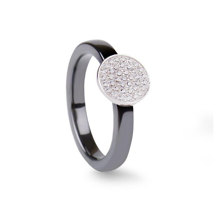 Moes Ring Black Ceramic #LuxenterJoyas  #LuxenterSilver