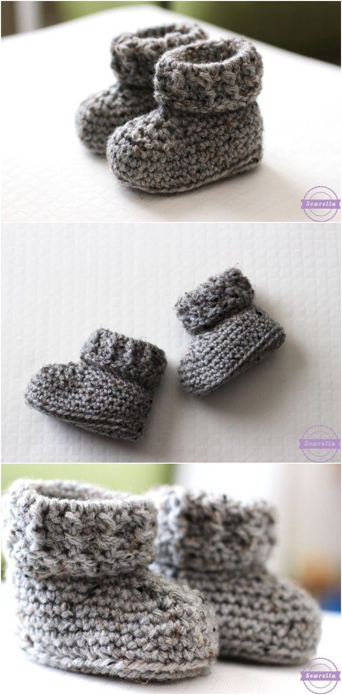 Crochet Baby Shoes And Booties Free Patterns - #crochetbabyboots
