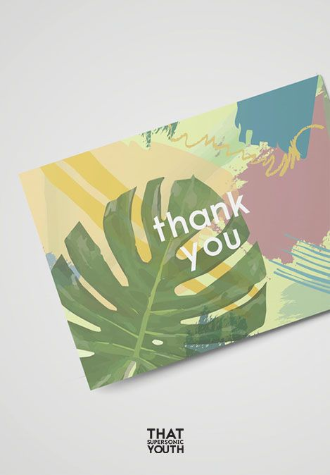 Printable Monstera Thank You Card, Instant Download Wedding Thank You card, Card to say thanks, Plant lover postcard, Place Setting Card