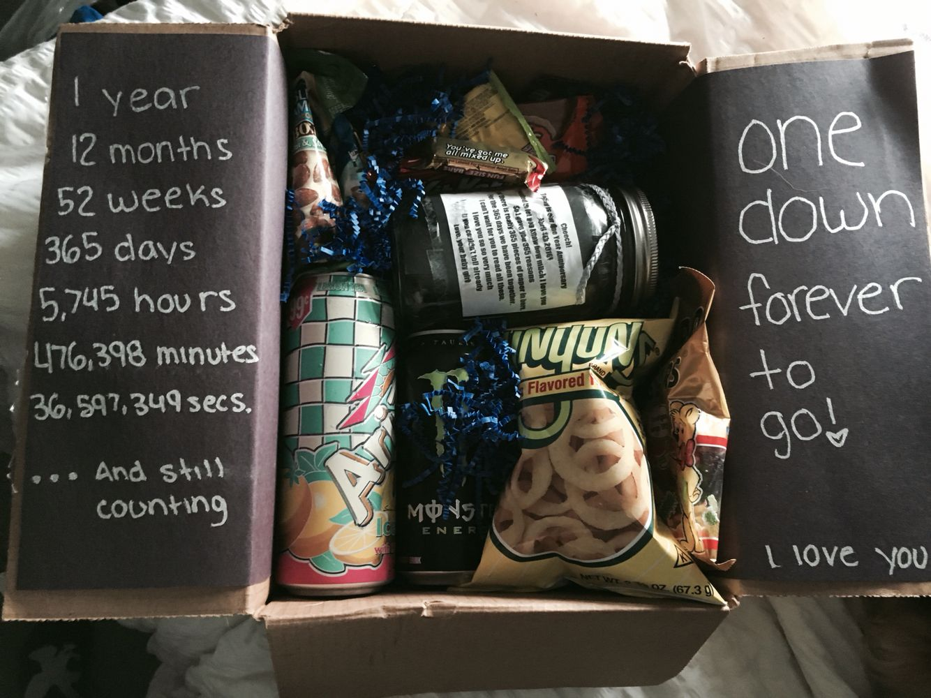 One Year Anniversary Gift Idea Anniversary Boyfriend