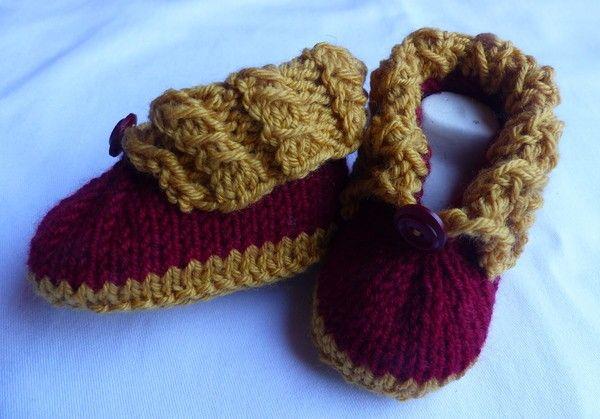 Strickanleitung Für Babyschuhe Halbschuhe Baby Pinterest