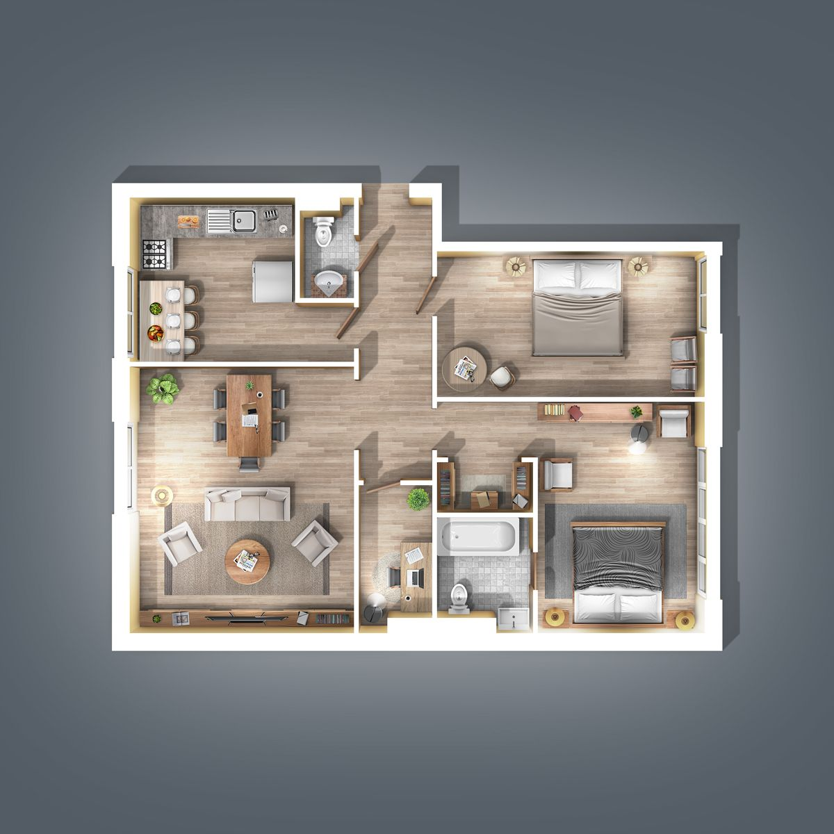 2d Plan Generator Photoshop Action Aff Generator Sponsored Plan Action Photoshop Rendered Floor Plan Small House Design Plans Small Apartment Plans