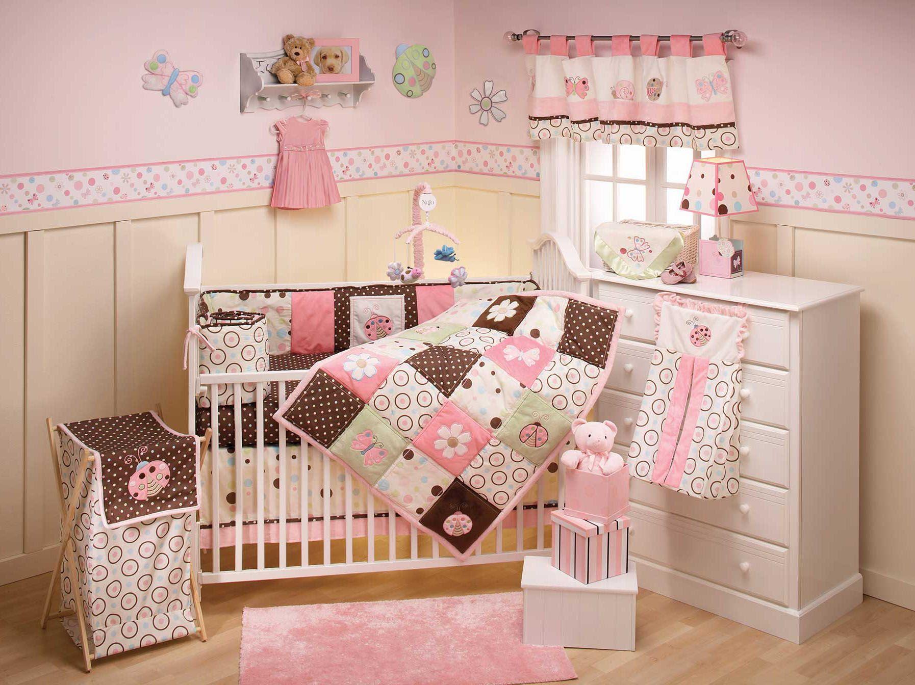 Ladybug Crib Bedding Set With Images Baby Girl Bedroom Modern