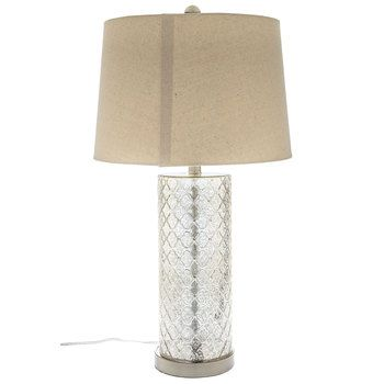 Hobby Lobby Lamp Shades Fascinating Quatrefoil Mercury Glass Lamp With Linen Shadehobby Lobby $9999 Decorating Design