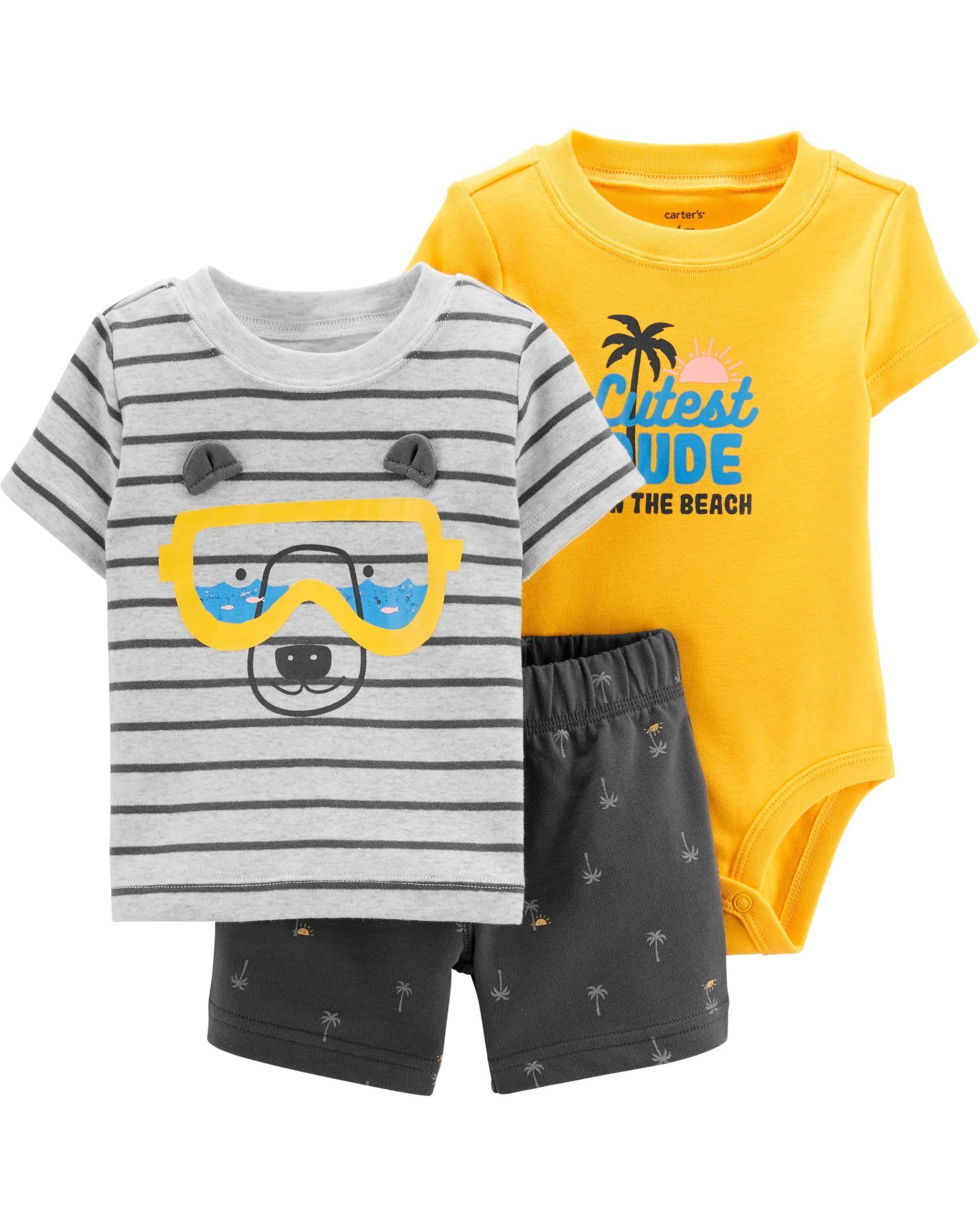 cca1218f4 3-Piece Bear Little Short Set | Future boy | Carters baby boys, Body ...