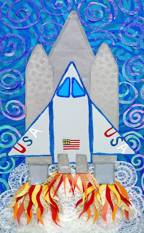 Shuttle Collage kolmiulotteisuutta kehiin...tähän työhön sitä voisi saada aika rutkastikin.