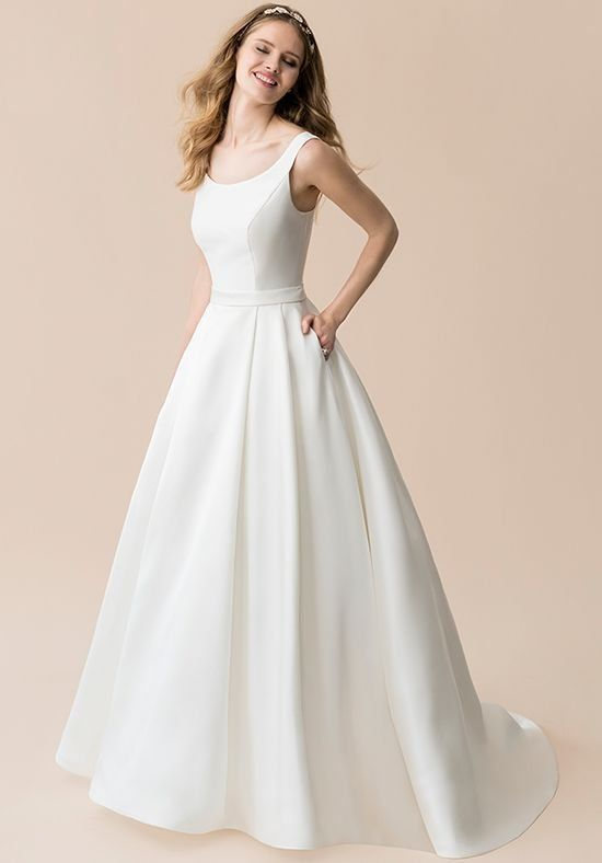 This ball gown Moonlight Tango style T805 is the definition of sleek ...