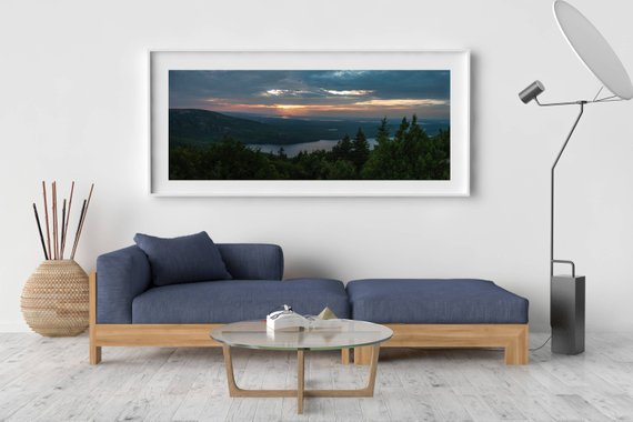 Maine Photography, Large Wall Art Print, Mountain Landscape