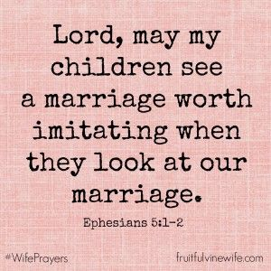 Wife Prayers | #WifePrayers | Ephesians 5:1-2 | Get more at www.fruitfulvinewife.com