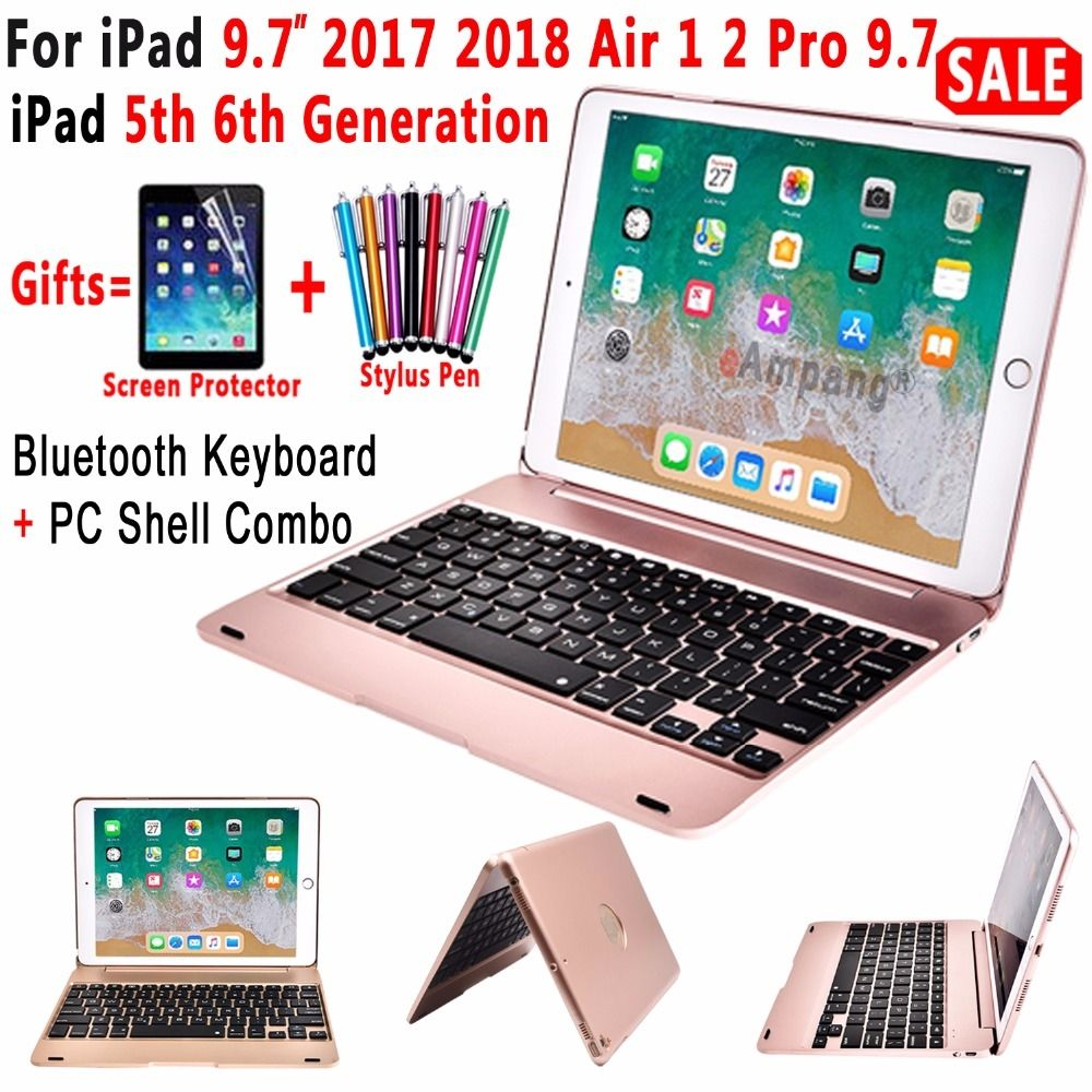 Top Flip Cover For Apple New Ipad 9 7 2017 2018 5th 6th Generation Bluetooth Keyboard Case Keyboard Case Ipad