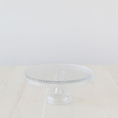 Hobnail Cake Stand – Clear 28cm