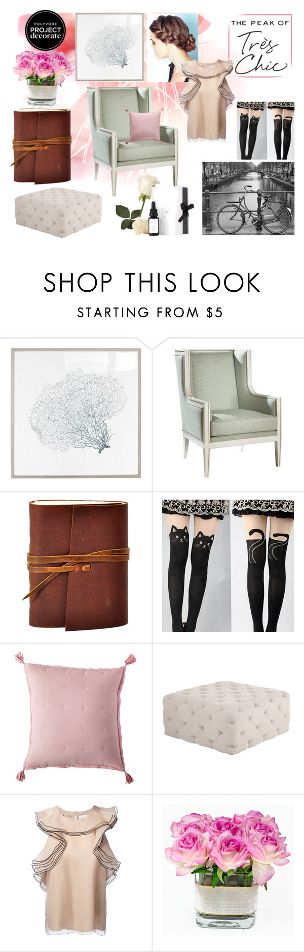"""""""La Parigina"""" by diamantipaola ❤ liked on Polyvore featuring interior, interiors, interior design, home, home decor, interior decorating, Karen Robertson Collection, Belle Meade, Serena & Lily and Haute House"""