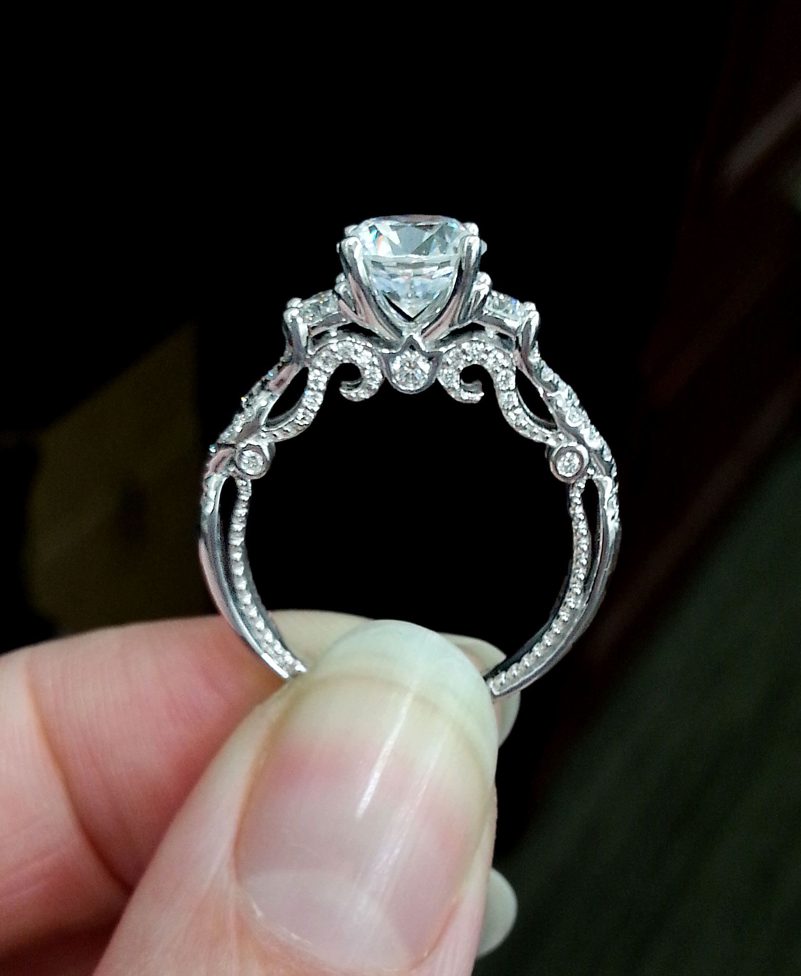 Wedding Ring Styles: Verragio Engagement Ring. Style 7074 From The Insignia