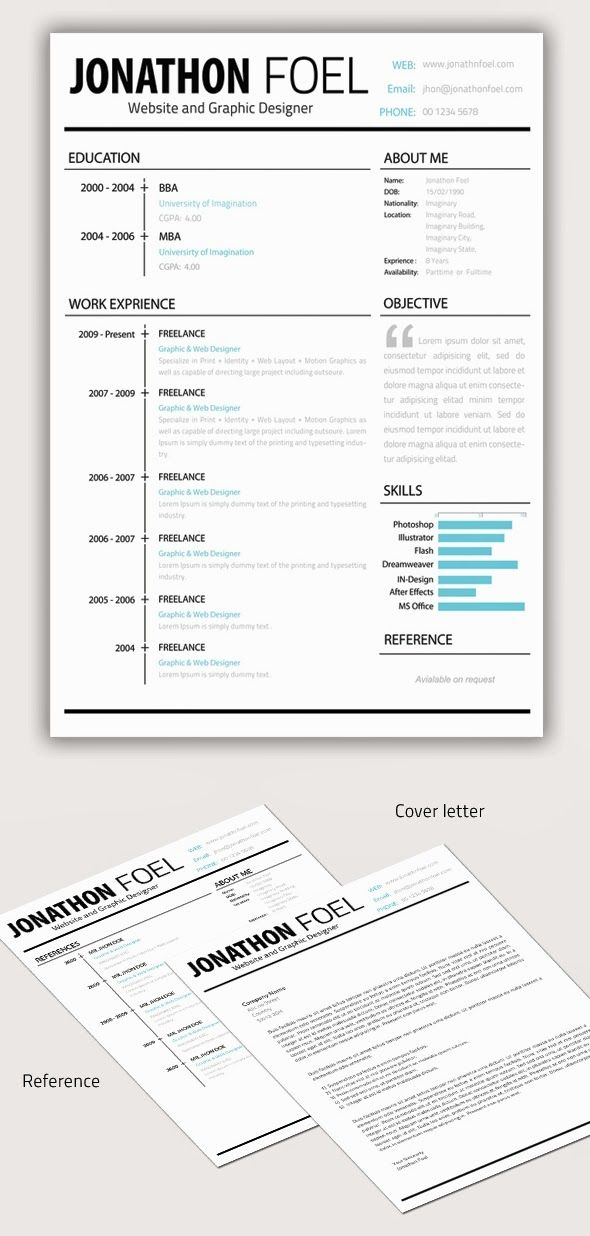 Black And White Obsession Chic And Polished Resume Template Free