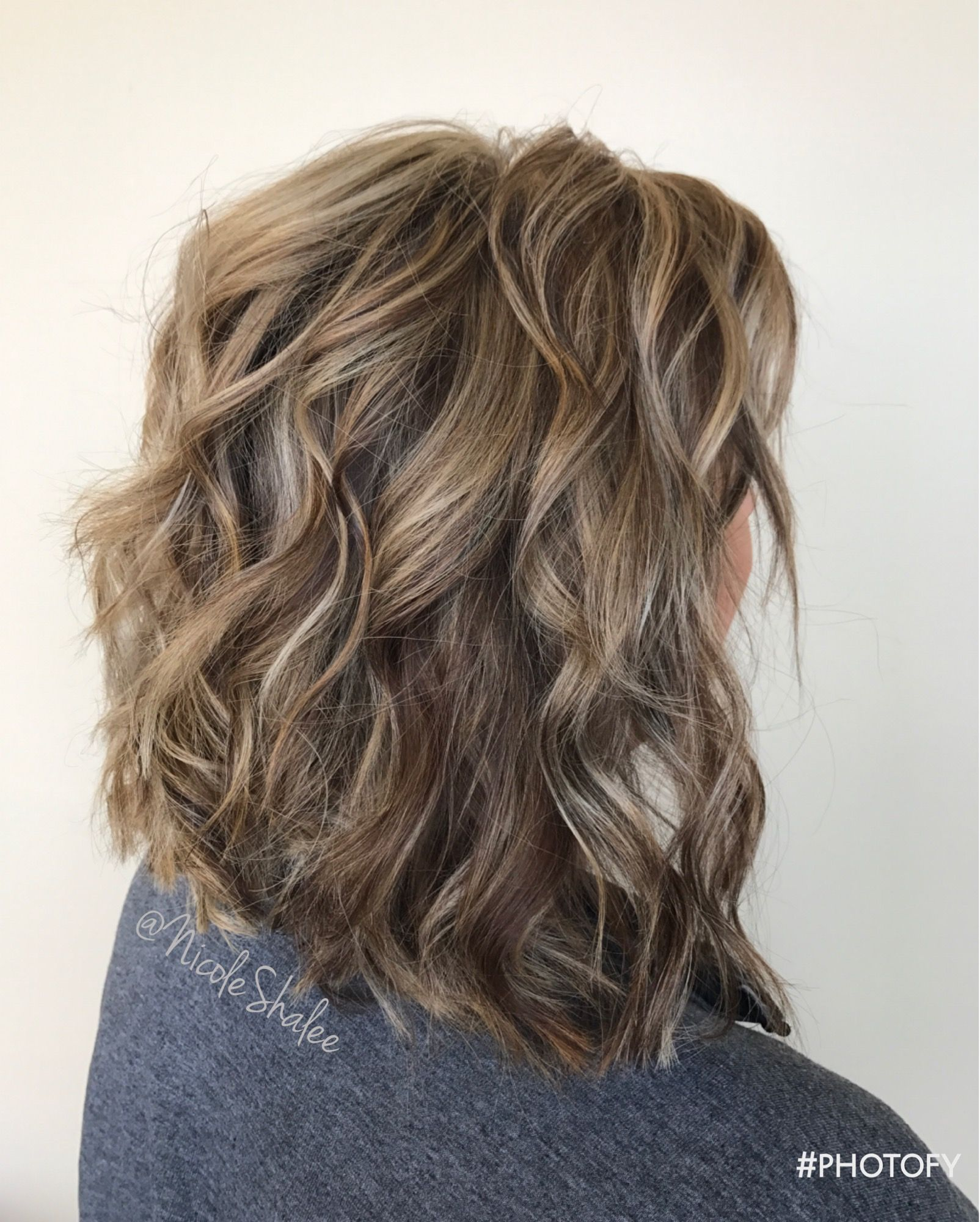 Lob Long Bob Beach Waves Bronde Hair Sandy Brown Hair Sandy