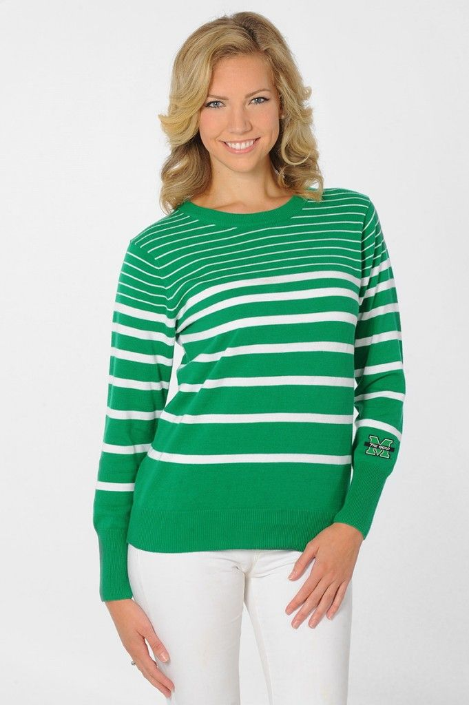a8d26cd5d452 Sweater Weather Marshall Thundering Herd Kelly Green and White