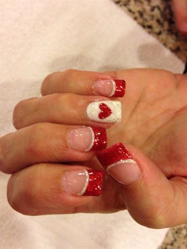 Red Love By Hanale86 From Nail Art Gallery Nail Art Valentines