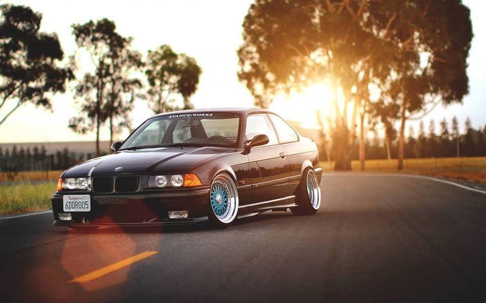BMW E36 M3 black deep dish slammed Stanceworks | E36, E36 ...