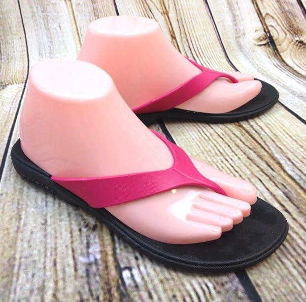 Womens Comfort Flip Flop Wedge Sandals (8 Hot Pink)