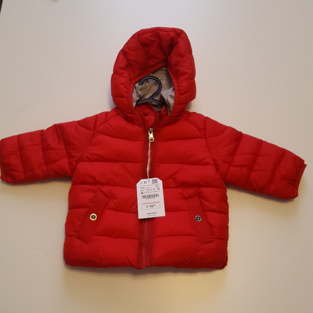 Zara Baby Boy Puffer Jacket/Coat Red With Snap Detachable ...