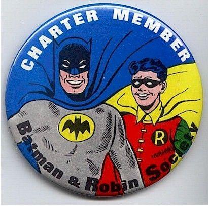 l 1966 BATMAN n ROBIN Charter Member Pin