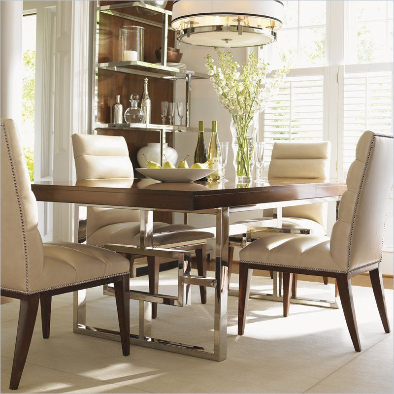 Lexington Mirage Monroe Dining Table In Cashmere Finish 01 0458 876c Even Though The Backs O Casual Dining Rooms Dining Room Design Modern Dining Table Sizes