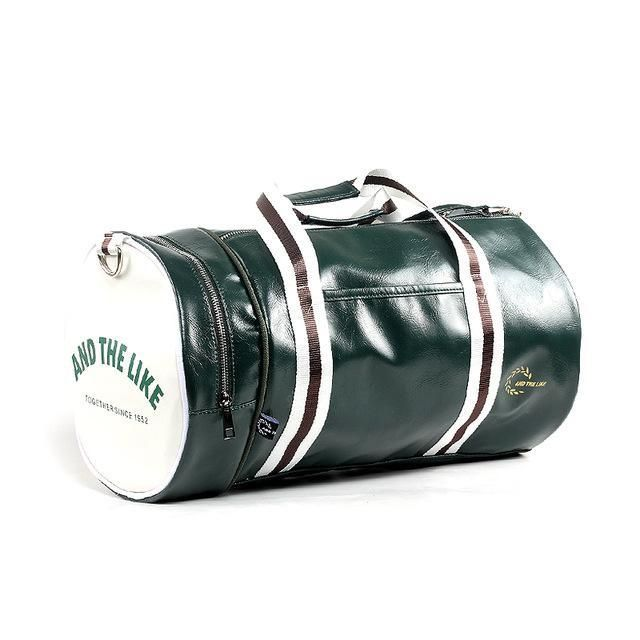 Classic PU Leather Casual Duffel Bag For Men