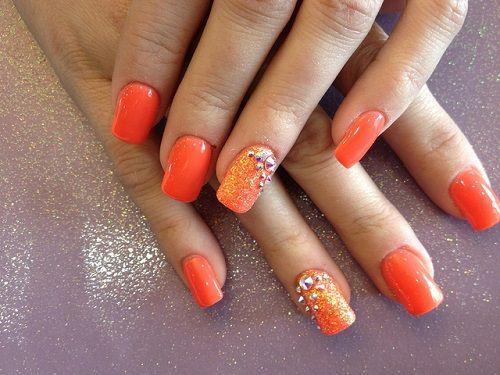 Beautiful Orange nail art creativebeautyhealth.com - Beautiful Orange Nail Art Creativebeautyhealth.com Nails