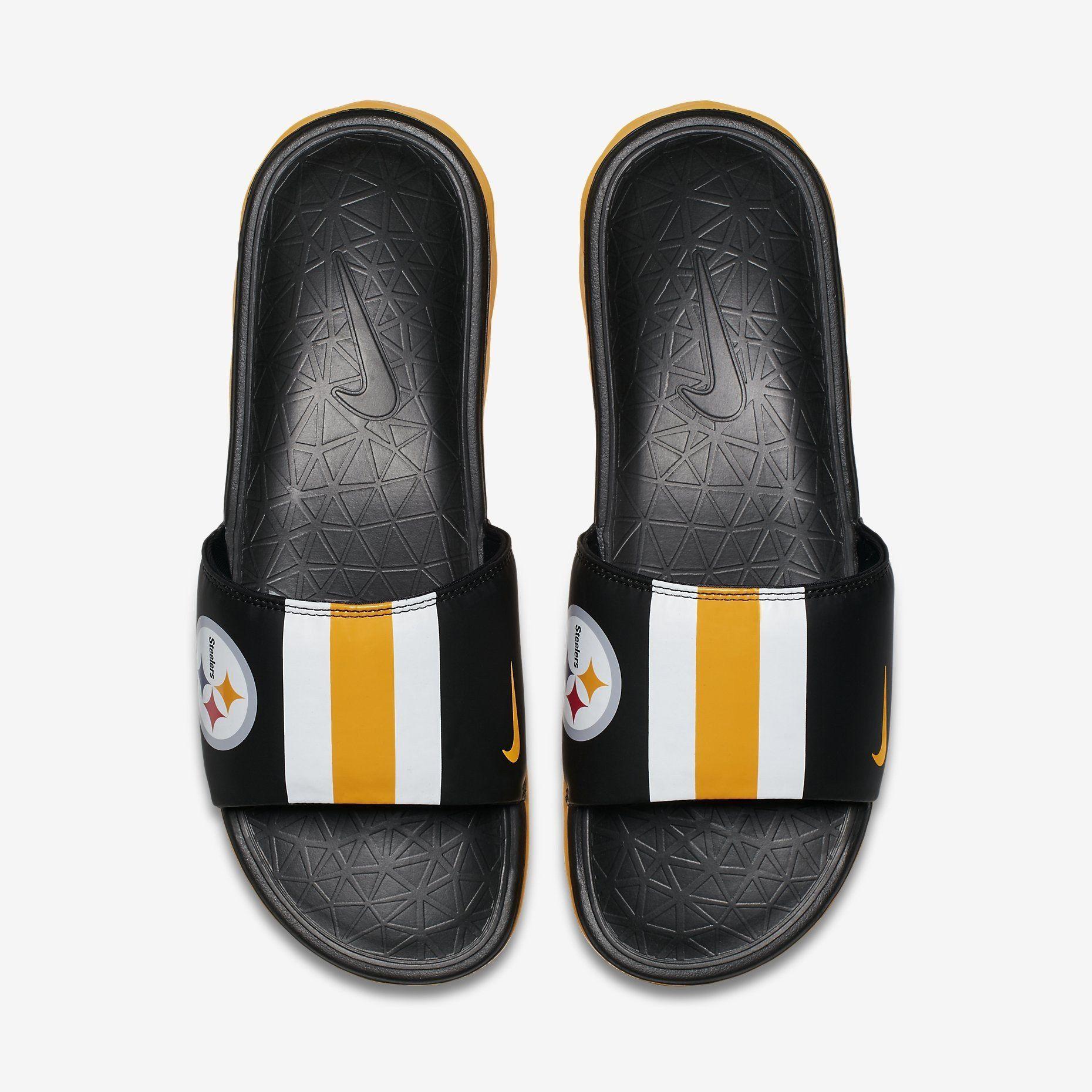 c3b56e4629ea Steelers NFL Nike Men s Benassi Solarsoft Team Slides
