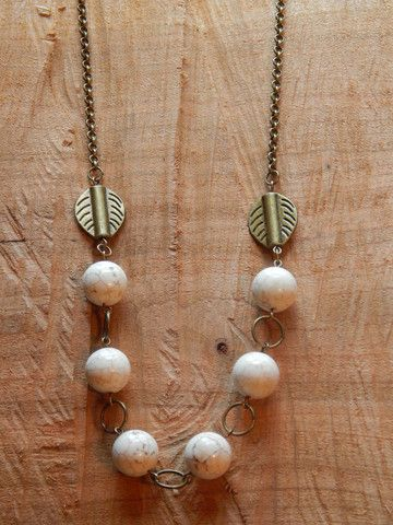 White Turquoise Necklace – The Siren's Lure