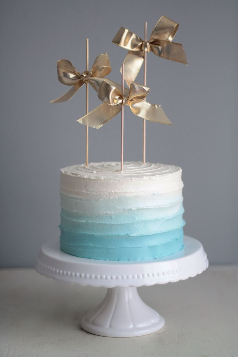 Ice Blue Ombre Cake Even Cakes Can Be Bespoke