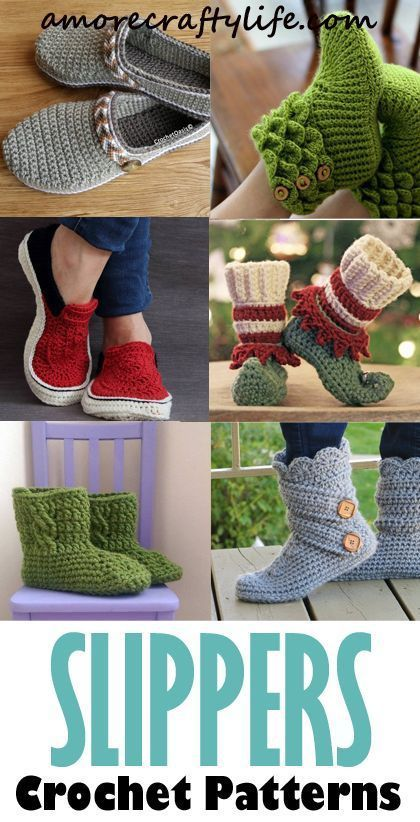 Slipper Crochet Patterns – Great Cozy Gift | Häkelschlappen