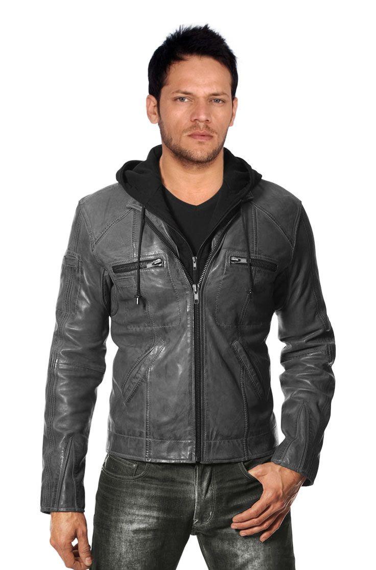 Buy Winter Style Fleece Hooded Leather Jacket Leather Jacket Leather Jeans Men Leather Jacket With Hood [ 1116 x 736 Pixel ]