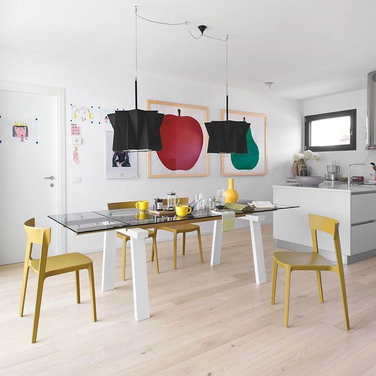 Calligaris #interior #dining #chair #table #yellow #modern Cool Extendable Glass Dining Room Table 2018