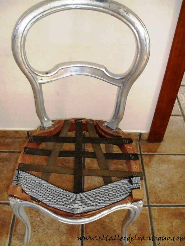 Como tapizar una silla 02 upholstery pinterest - Grapadora para tapizar muebles ...