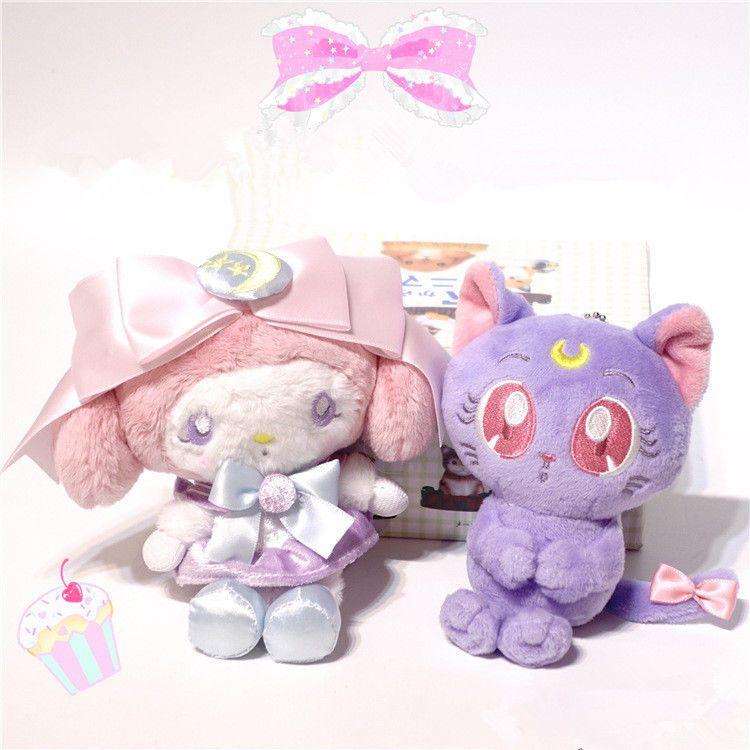 My Melody Sailor Moon collaboration Plush mascot Luna doll Stuffed Animal Toy