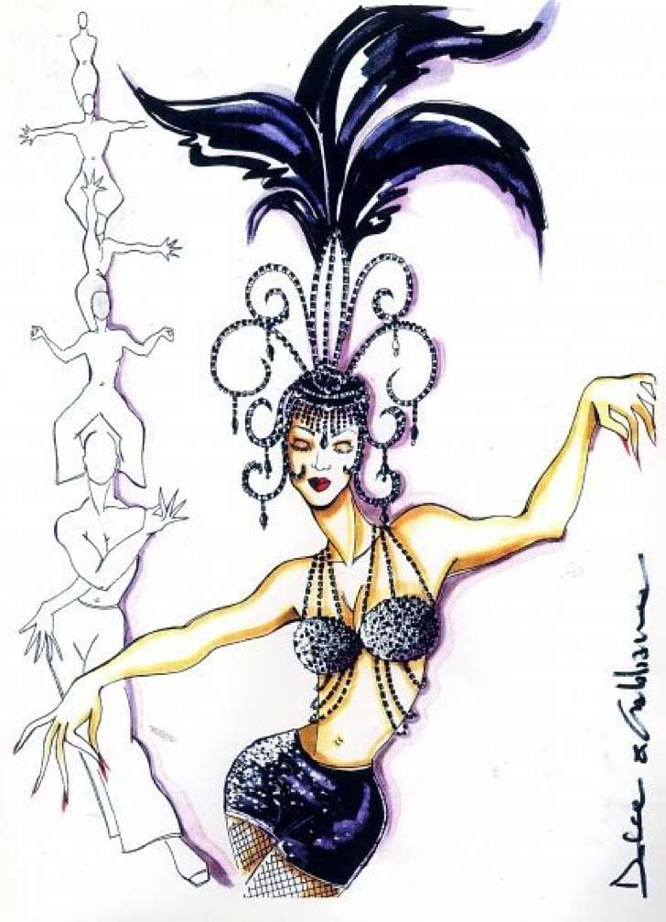 Dolce Gabbana Costume Sketch For Madonna The Girlie Show 1993