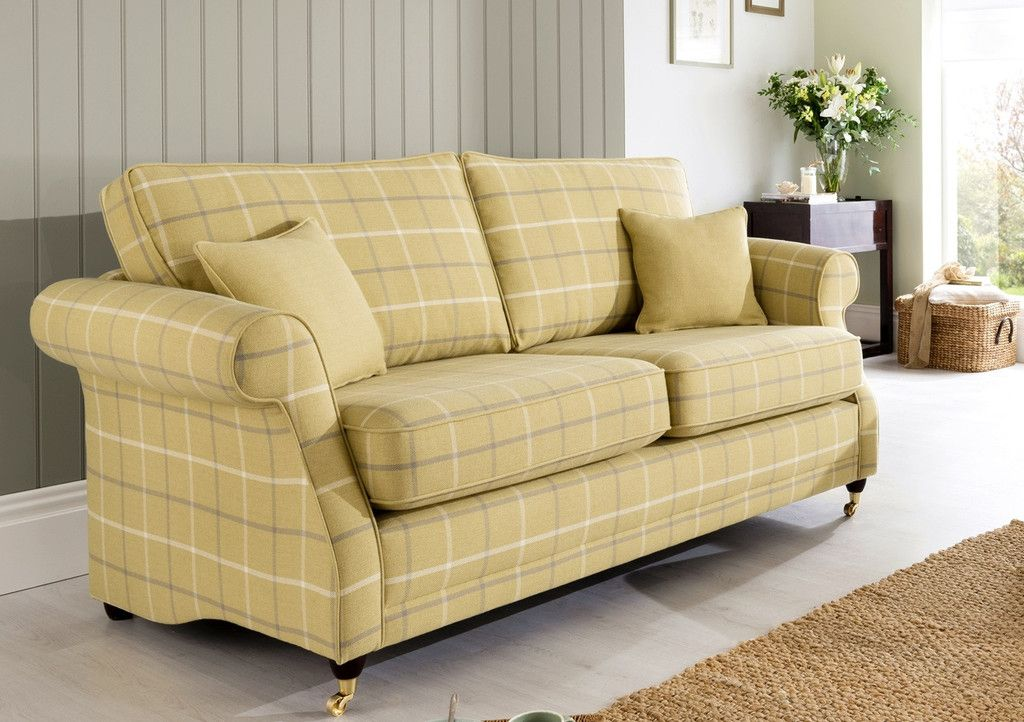 Lochinver 2 Seater Sofa U2013 Sophisticated Country Elegance In Plaid Or Plain  Fabrics