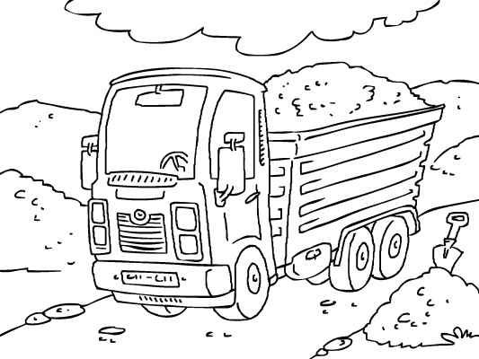 Car And Truck Coloring Book Truck Coloring Pages Online