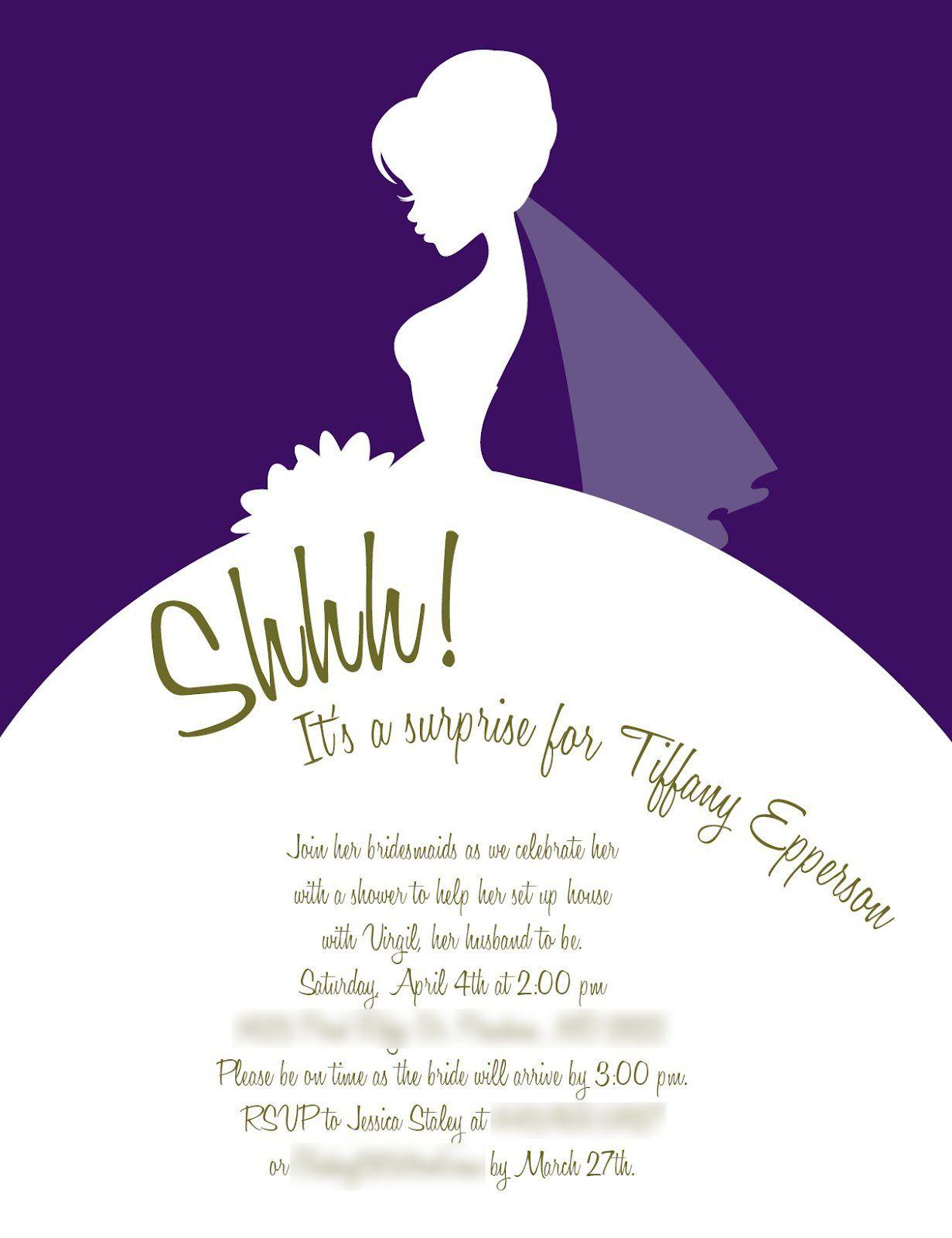 Bridalshowerinviteideas: Wedding Shower Invitations Wording Formal At Reisefeber.org