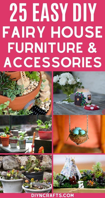 25 Cute DIY Fairy Furniture and Accessories   Easy Fairy Garden Ideas   Miniature Fairy Gardening   Quilling Garden Miniature   Fairy Garden Ideas For...