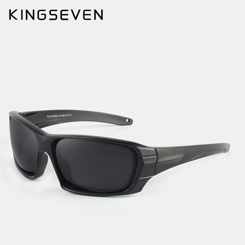 38d0bc8834ff KINGSEVEN Classic Fashion Polarized Black Sunglasses Men Eyewear For  Driving Fishing Square Sun Glasses With Box Gafas  Affiliate