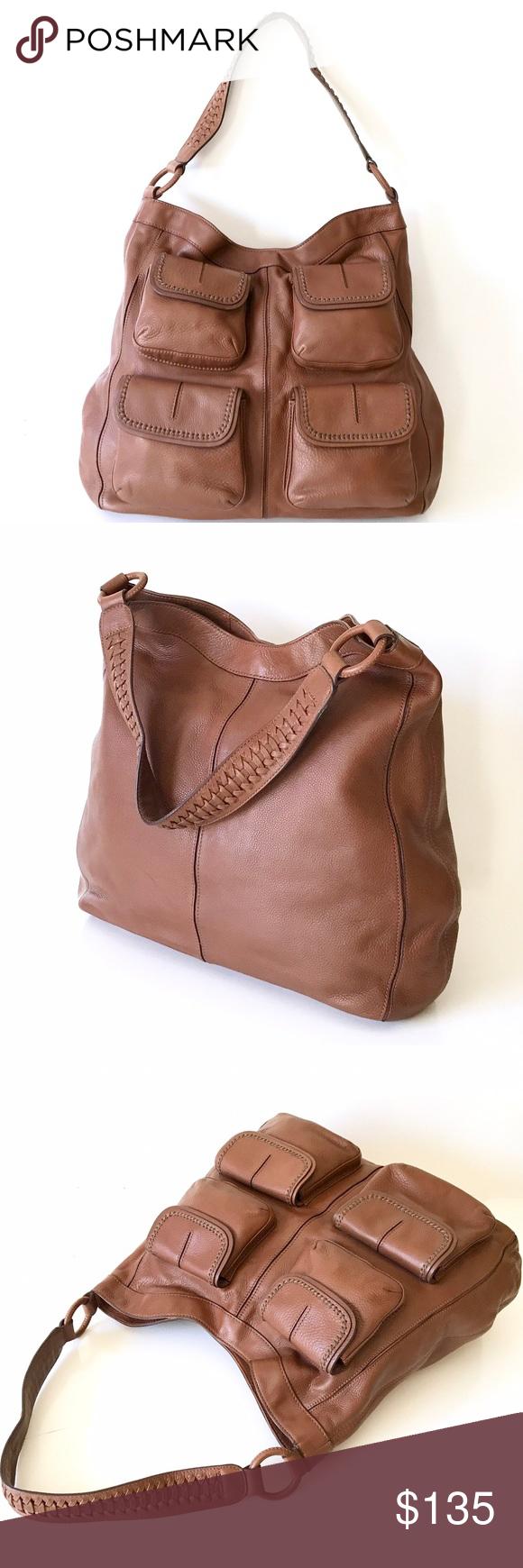 Banana Republic • Goa 4-Pocket Shoulder Bag RARE, large thick leather  shoulder bag 8d14b7b040