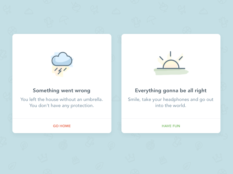 Dribbble - Success/Error flash message - DailyUI #011 by Joanna Ostafin